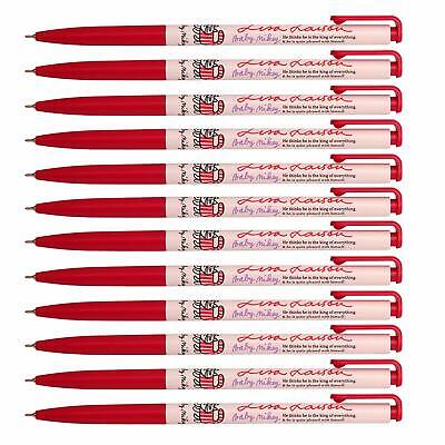 Xeno Baby Mikey 0.38 Mm Slim Ball Point Pen Box of 12 (Red) + Tracking number