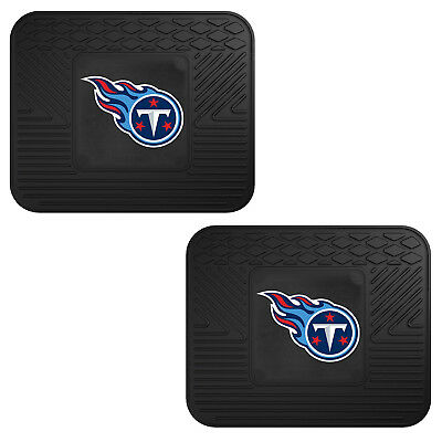 NFL Tennessee Titans Car Truck 2 Back Utility All Weather Rubber Floor Mats