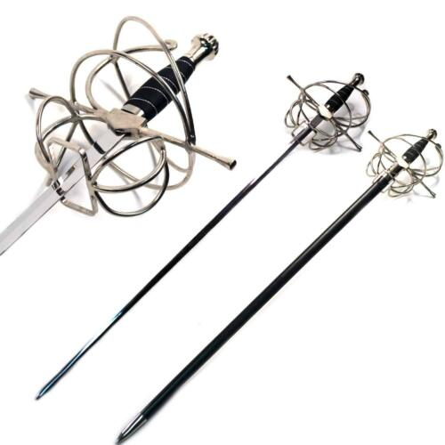 "Large Full Size Stainless Steel 46"" Renaissance Rapier Thrusting Sword cosplay"