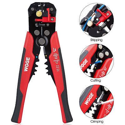 Wgge Wg-014 Self-adjusting Insulation Wire Strippercuttercrimper Tool 8