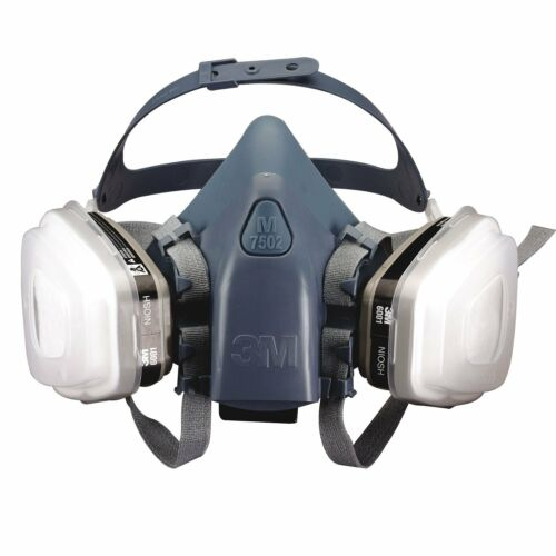 3M, 7 IN 1, 7502 Half Face Reusable Respirator For Spraying & Painting, MEDIUM