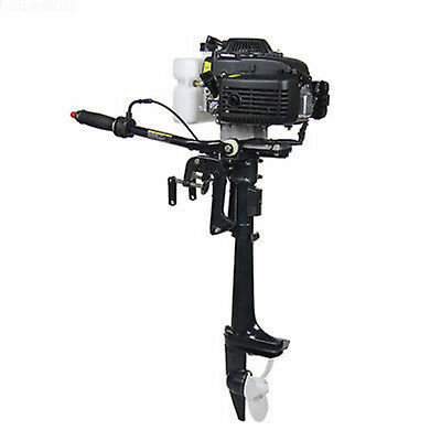 New 4stroke 4hp Heavy Duty Outboard Motor Boat Engine Wair Cooling System 52cc