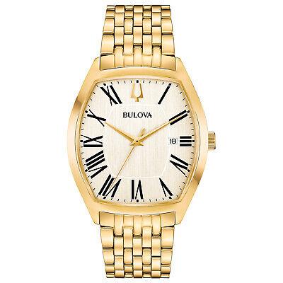 Bulova Ambassador Men's Quartz Gold-Tone Bracelet 37mm Watch 97B174