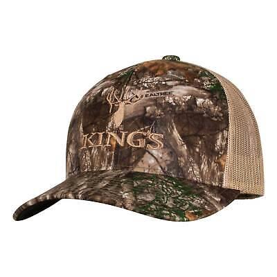 f7e62b77 King's Camo Trucker Hat Realtree Edge Cap Adjustable