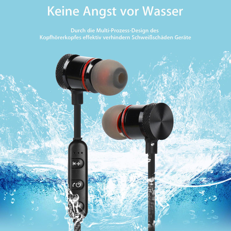 Wasserdicht Bluetooth Kopfhörer Wireless Stereo Sport Ohrhörer In Ear Headset