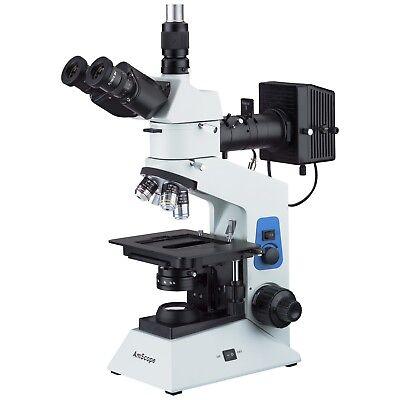 Amscope Me580t 40x-500x Trinocular Dual-light Polarized Metallurgical Microscope