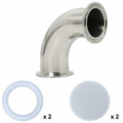 1-12 1.5 Tube Sanitary Ferrule Elbow 90 Degree Pipe Fitting Ss304 Tri Clamp