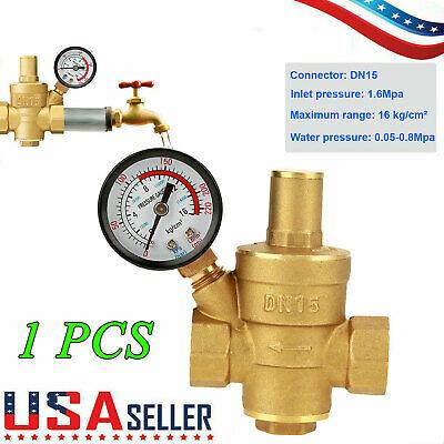 Npt 12 Water Pressure Regulator Lead-free Brass Reducer Gauge Water Valve