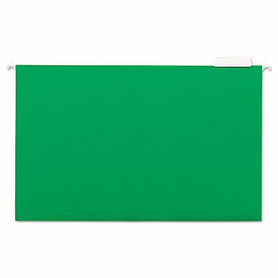 Universal Hanging File Folders 15 Tab 11 Point Stock Legal Green 25box 14217