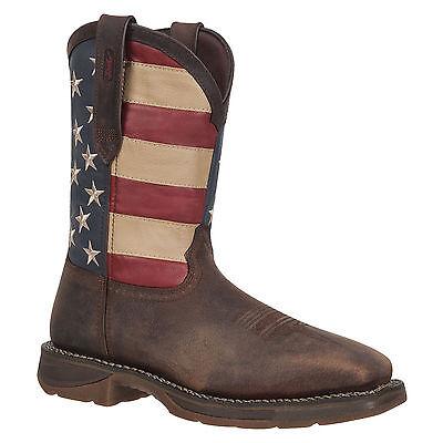 New Mens Rebel By Durango Steel Toe American  Flag Western Work Boot Db020