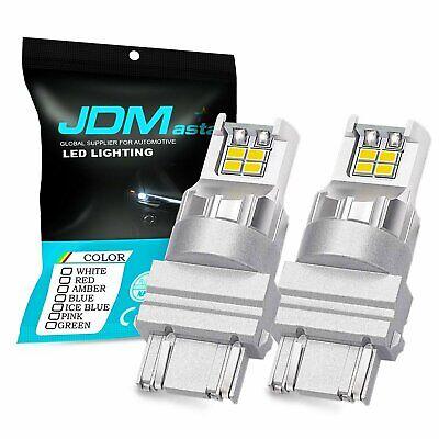 JDM ASTAR 3157 3156 White LED Turn Signal Tail Brake Backup Parking Lights Bulbs