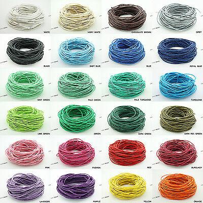 1.5mm Waxed Polished Cotton Braided Cord Macrame Beading Artisan String 20 Yards ()