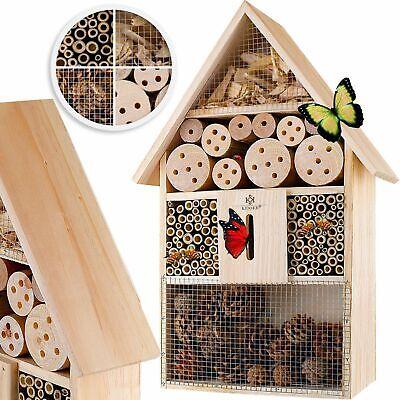 KESSER® Insektenhotel XXL Brutkasten Schmetterlinge Bienen Insektenhaus Holz