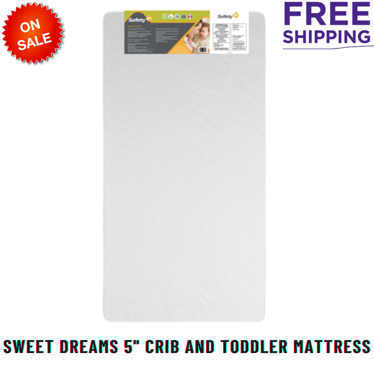 "Sweet Dreams 5"" Crib And Toddler Mattress, Thermo-Bonded Cor"