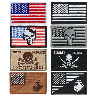 YUEAON 8pcs american flag velcro patches morale tactical embroidered military...