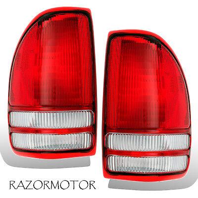 1997-2004 Replacement Tail light Lamp Housing Pair For Dodge Dakota -