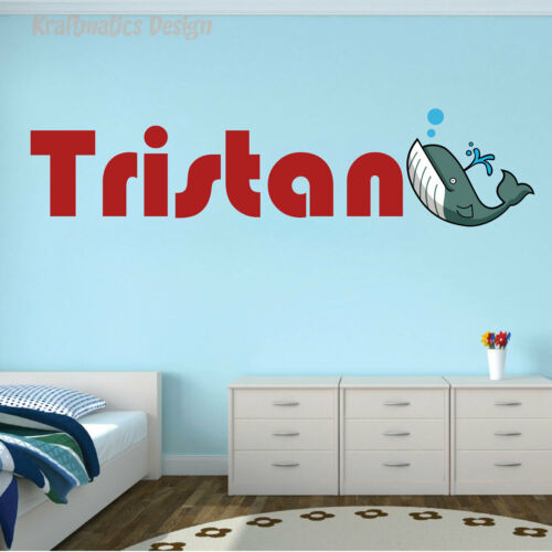 Whale Name Series Wall Decal Nursery Vinyl Sticker for Home Wall Decor