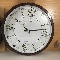 Best 14'' Large Slient Quartz Wall Clock Ticking Luminous Number Night Light USA