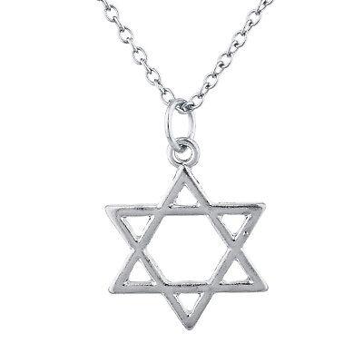 Lux Accessories Silver Tone Star of David Hanukkah Jewish Charm Pendant Necklace](Hanukkah Accessories)