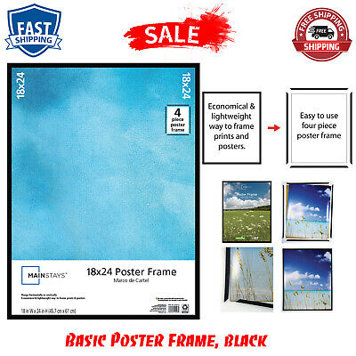 """Economical 18x24"""" Basic Poster Picture Frame Display Art Photo Lightweight New"""