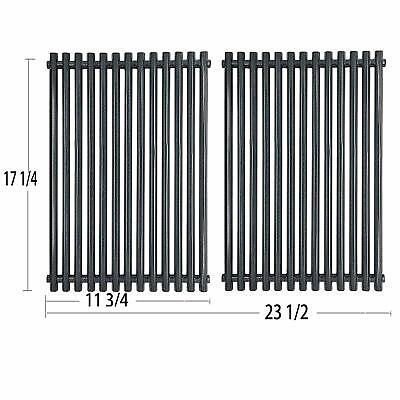 2 Pack Porcelain Steel Grill Grid Grates Weber Spirit Grill Parts Replacement