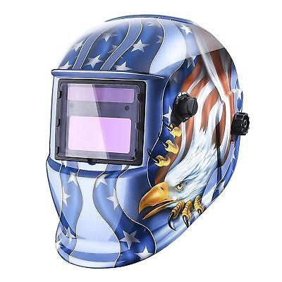 Deko Solar Powered Welding Helmet Auto Darkening Hood W Adjustable Shade Range