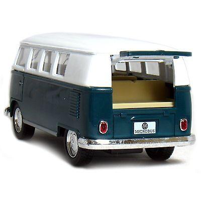 """5"""" Kinsmart Classic 1962 Volkswagen Bus Van Diecast Model Toy 1:32 VW- Green"""