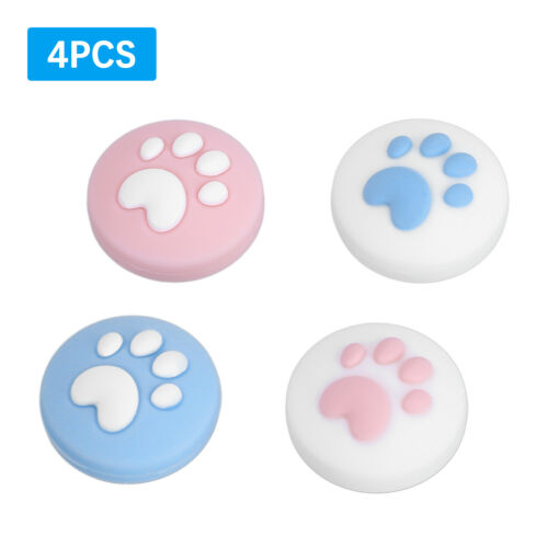 4 x Cat Paw Controller Thumb Grips Cover Cap for Nintendo Switch Lite Joycon