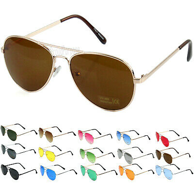 New Fashion Men's  Women's Aviator Sunglasses Metal Frame Retro Vintage (Pilot Sunglasses For Men)