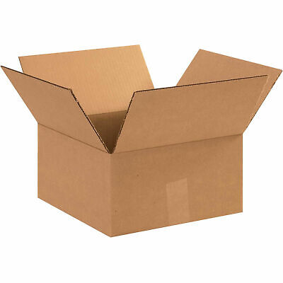 12 X 12 X 6 Flat Cardboard Corrugated Boxes 65 Lbs Capacity Ect-32 Lot Of