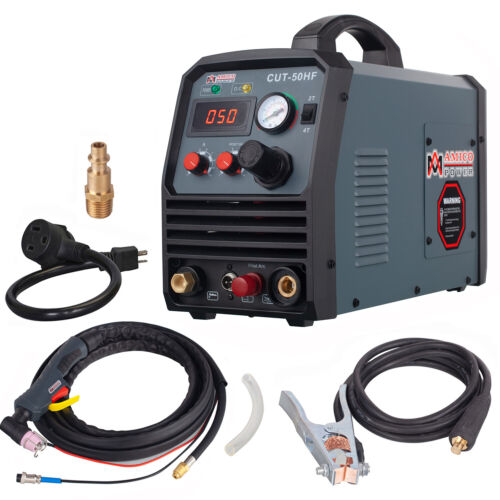 Amico CUT-50HF, 50 Amp Non-touch Pilot Arc Plasma Cutter, 100~250V Wide Voltage