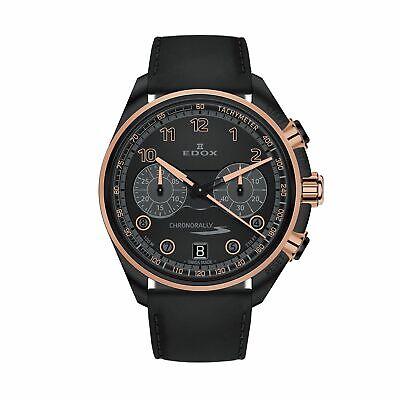 Edox 09503 37NRCN NNR Men's Chronorally Black Quartz Watch