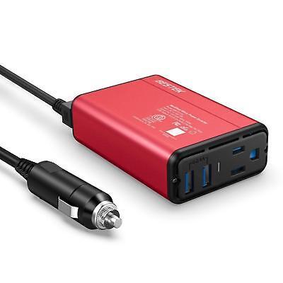 BESTEK 150W/300 WATT Car Power Inverter Laptop Phone Charger DC to AC -