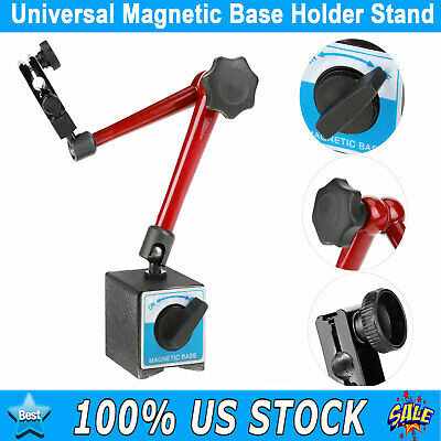 Universal Magnetic Base Holder Stand Dial Test Indicator Arm Tool Adjustable Usa