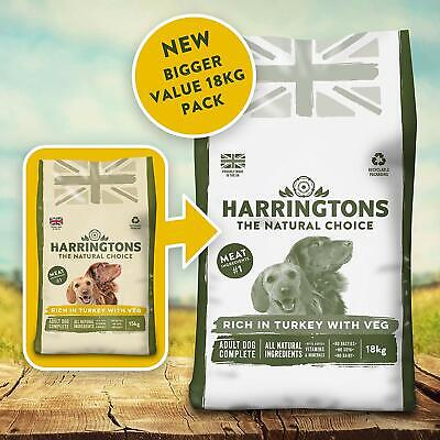 Harrington's Dry Dog Food Complete Rich In Turkey and Veg 18 kg Free UK P&P NEW