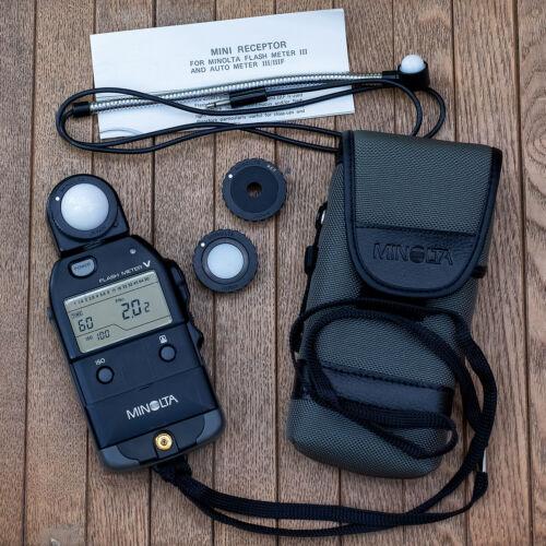 Minolta Flash Meter V Light Meter w/case and extras, made in Japan