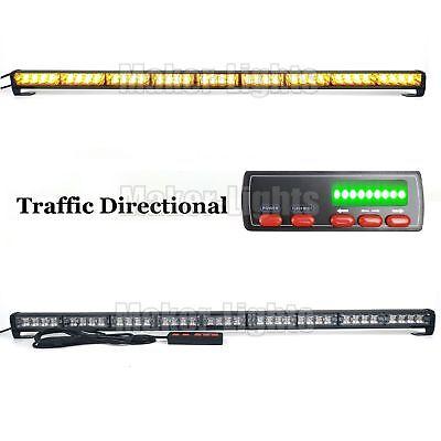 39 36w Led Warning Emergency Traffic Adviser Directional Strobe Light Bar Amber