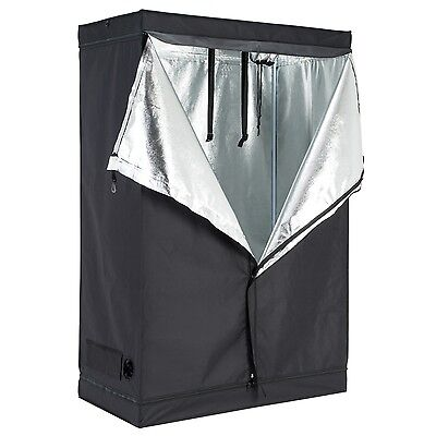 "48""x24""x72"" Indoor Grow Tent Room Reflective 600D Mylar Hydroponic Non Toxic Hut"