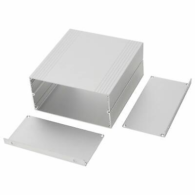 New Silver Extruded Aluminum Electronic Enclosure Project Box Diy Case Hot