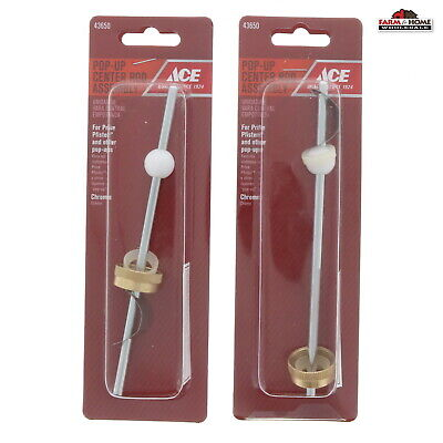 Pop Up Center Rod Assembly Sink Drain Stopper ~ 2 Pack ~ -
