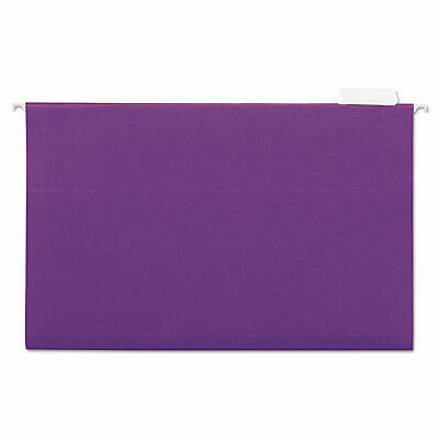 Universal Hanging File Folders 15 Tab 11 Point Stock Legal Violet 25box 14220