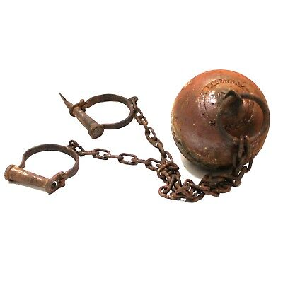 Ball And Chain Prop (Alcatraz Ball and Chain Rusty Antique Style Cast Iron Prop For)