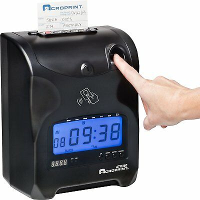 Acroprint Atr360 Electronic Time Recorder Clock Digital Biometric Finger Scan