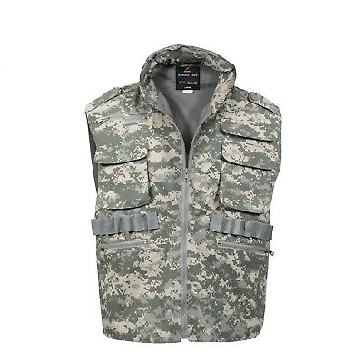 Ranger Vest With Hood Military Tactical ACU Digital Camouflage Rothco 7255  ()