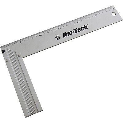 "12"" Professional Tri Try Square Set Metric Aluminium Carpenters Heavy Duty"