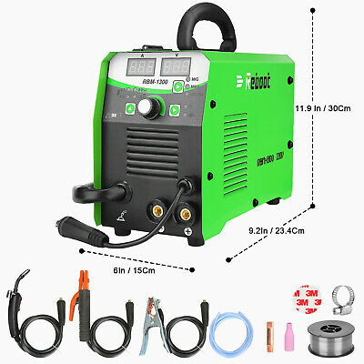 Mig Welder Flux Core 130a Gasgasless Inverter Migsticktig Welding Machine Usa