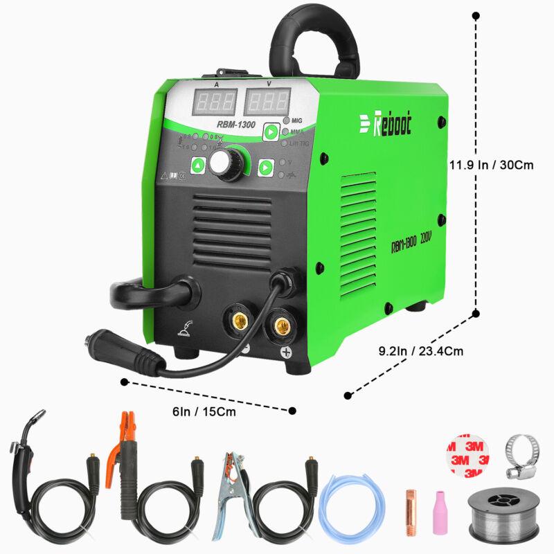 MIG Welder Flux Core 220V 130A Gas/Gasless Inverter MIG/Stick/Lift MIG Welding