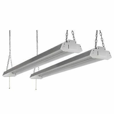 2X 4Ft 5000Lumens LED Bright Shop Light Home WorkLight Fixture Lighting 5000K OY