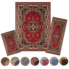 Traditional Medallion Persien 3 Pcs Area Rug Oriental Bordered Runner Mat Set