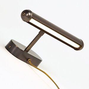 led lampe pour clairage des tableaux applique murale laiton nastia ancien ebay. Black Bedroom Furniture Sets. Home Design Ideas